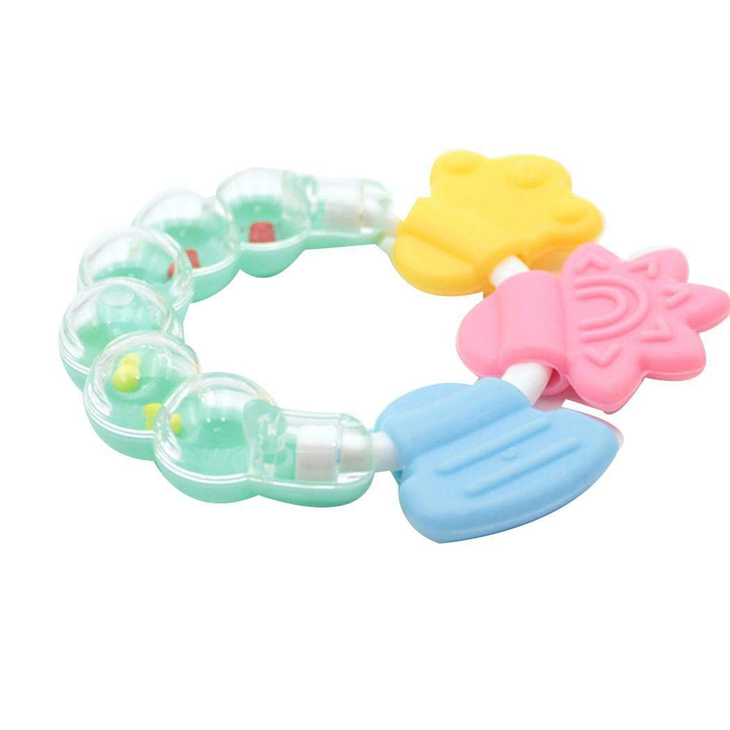 Diaper Kids Baby Silicone Rattles Teether Toy Hand Development Educational Toys