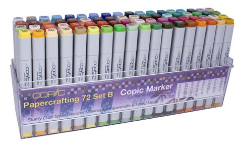 Copic Papercrafting Marker Set B, 72 Pieces by COPIC