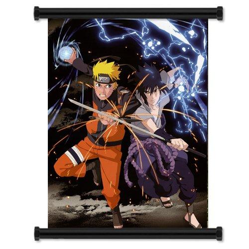Naruto Shippuden Naruto Vs Sasuke Uchiha Anime Fabric Wall