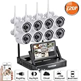 "SW SWINWAY Wifi Camera Smart Wireless Security Cameras 8 HD Indoor/Outdoor WiFi IP Bullet Cameras with 8 Channels 7"" Monitor Night Vision Easy Remote Access Hard Disk Not Included Review"