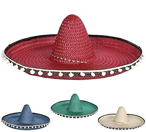 6108d6ef1310e Sombrero Mexicano en colores surtidos 55 cm  Amazon.es  Juguetes y juegos