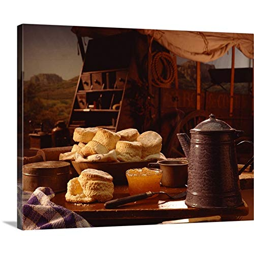 Chuck Wagon Coffee - Biscuits and Coffee on Chuck Wagon Canvas Wall Art Print, 20