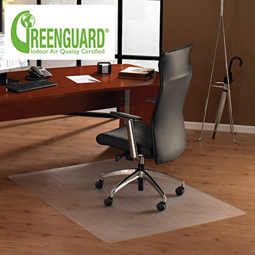 MATDOM Office Chair Mat for Hardwood Floor, 48''30''Great Clear Vinyl Hard Floor Mat With Smooth Surface, Anti-Slip Thick And Sturdy Desk Floor Protective Mats
