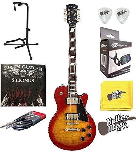 Stagg l500cs LP de madera de cerezo Custom guitarra eléctrica w ...