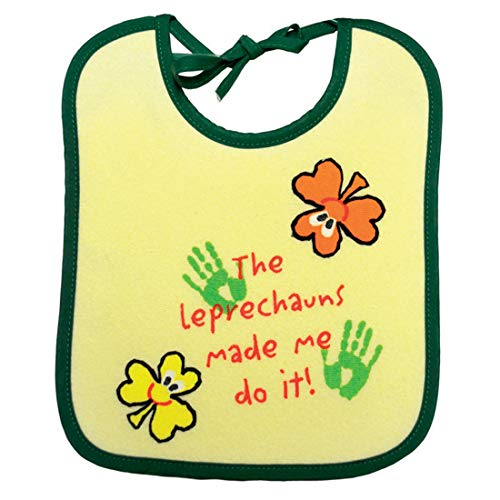 Patricks Day Bib - The Leprechauns Made Me Do It! Bib