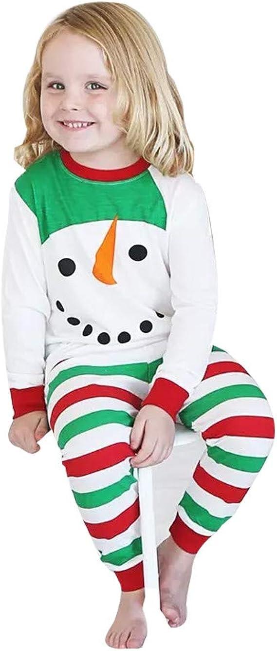 K-youth Ropa Bebe Niña Navidad Pijamas Bebe Niño Navidad Muñeco de Nieve de Navidad Camiseta de Manga Larga Ropa de Bebe Niño Recien Nacido Conjunto Niña Pantalon y Top Fiesta: Amazon.es: Ropa
