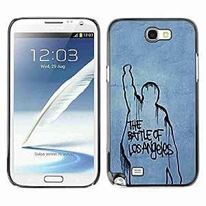 Planetar® ( Battle Of Los Angeles ) Samsung Galaxy Note 2 II / N7100 Fundas Cover Cubre Hard Case Cover