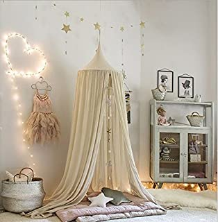 betthimmel baldachin aus baumwolle leinwand dekobett berdachung fr baby kind zelte - Prinzessin Bett Baldachin Mit Lichtern