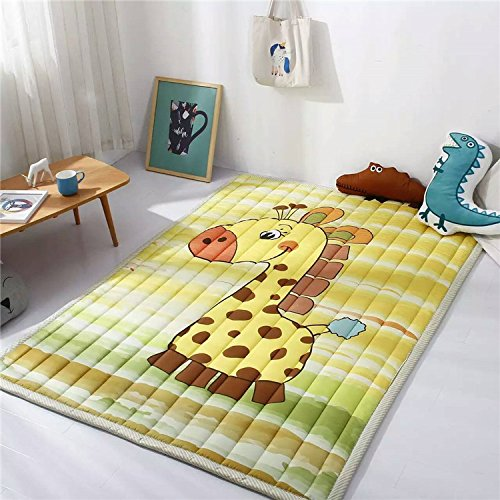 Large Kids Play Mat,Rectangle Cartoon Foldable Toys Crawling Rugs,Extra-Thick Moisture-proof Carpet by CutePuppy (Giraffe)