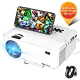 """Mini Projector, TOPVISION Video Projector with Synchronize Smart Phone Screen, 1080P Supported, 176"""" Display, 50,000 Hours Led, Compatible with Fire Stick,HDMI,VGA,USB,TV,Box,Laptop,DVD"""