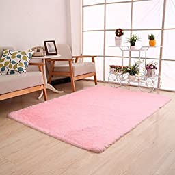 Generic 0270 Super Soft Modern Shag Area Rug, 4\' x 5\', Pink