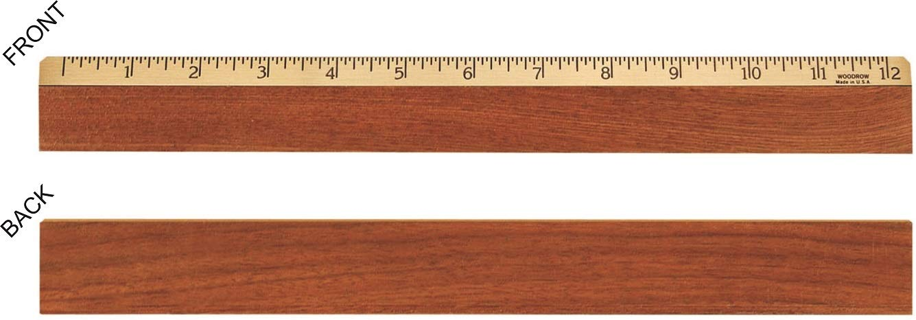 12'' Walnut & Brass inches Ruler
