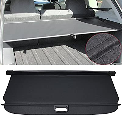 Cargo Cover Fits 2007-2017 Jeep Compass & Patrior | Black PU Tonneau Cover Retractable By IKON MOTORSPORTS | 2008 2009 2010 2011 2012 2013 2014 2015 2016