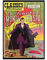 The Count of Monte Cristo Alexander Dumas Comic Book Cover – indrukwekkende poster voor de decoratie van de kamer, modern bedrukt