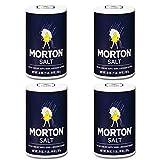 Morton Salt Regular Salt, 26 Oz (4 Pack)
