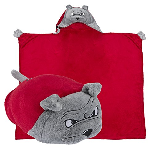 Comfy Critters Stuffed Animal Blanket – College Mascot, University of Georgia 'Hairy Dawg' – Kids huggable pillow and blanket perfect for the big game, tailgating, pretend play, travel, and much more by Comfy Critters