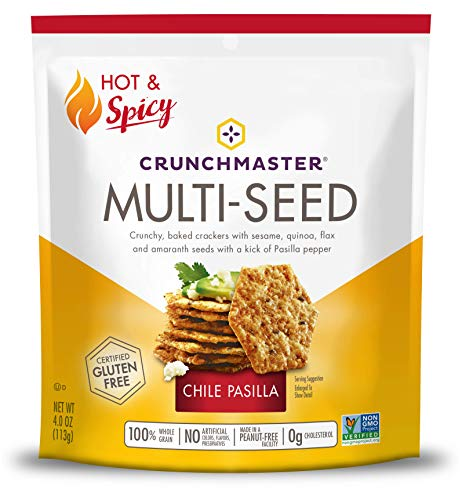 Crunchmaster Multi-Seed Crackers, Chile Pasilla, 4 Oz (Pasilla Pepper Seeds)