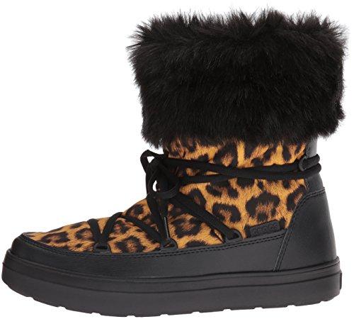 Metà Lodgepoint black Non Stivali Boot leopard Multicolore Donna Crocs A Imbottiti Polpaccio Lace qXxdUUBgwA