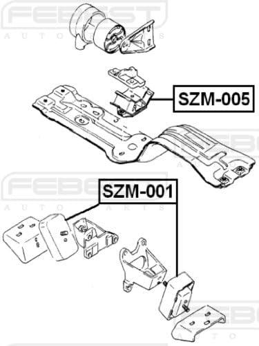 Suzuki Aerio 2.3L Rear Eagle BHP 3626 Engine Motor Mount