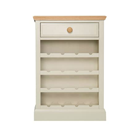 Dune Cream Painted Wine Cabinet Small Kitchen Storage Unit With Oak Tops Metal Or