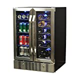 NewAir AWB-360DB Dual Zone Wine & Beverage Cooler, Stainless Steel
