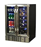 NewAir AWB-360DB 18 Bottle 60 Can Dual Zone Built-In WIne &...