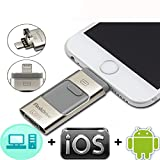 256GB USB Flash Drives, for iPhone [3-in-1] Lightning OTG Jump Drive, iPad Memory