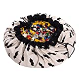 Play&Go Large Children Mr. Moustache Play Mat and Toy Organizer Storage 55