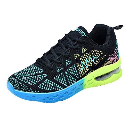 Mysky Men's Tennis Air Running Shoes Weight Gym Sport Workout Fitness Athletic Sneakers Green ()