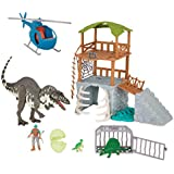 Terra by Battat - Acrocanthosaur Jungle Expedition – Toy Dinosaur & Helicopter Playset for Kids Age 3+ (13 Pc)