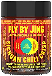 FLY BY JING Sichuan Chili Crisp, Deliciously Savory Umami Spicy Tingly Crispy Gourmet All Natural Vegan Gluten