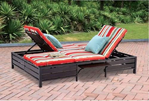 Mainstays Double Chaise Lounger, Stripe, Seats 2 ()