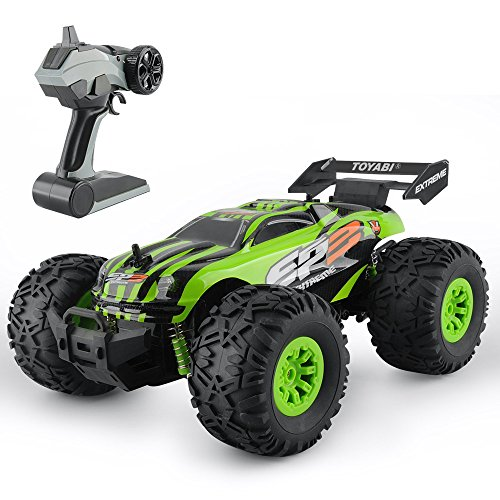 RC Car Toys, Remote Control Truck with 2.4GHz Radio Controlled Vehice Green Remote Control Car for Kids and Adults