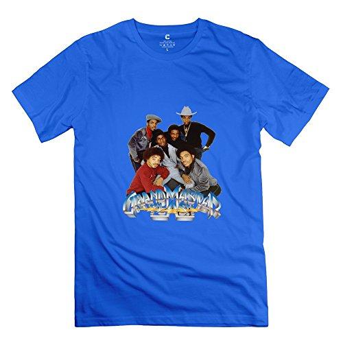 JRZJ Men's Grandmaster Flash Furious Five T-shirt Size L RoyalBlue