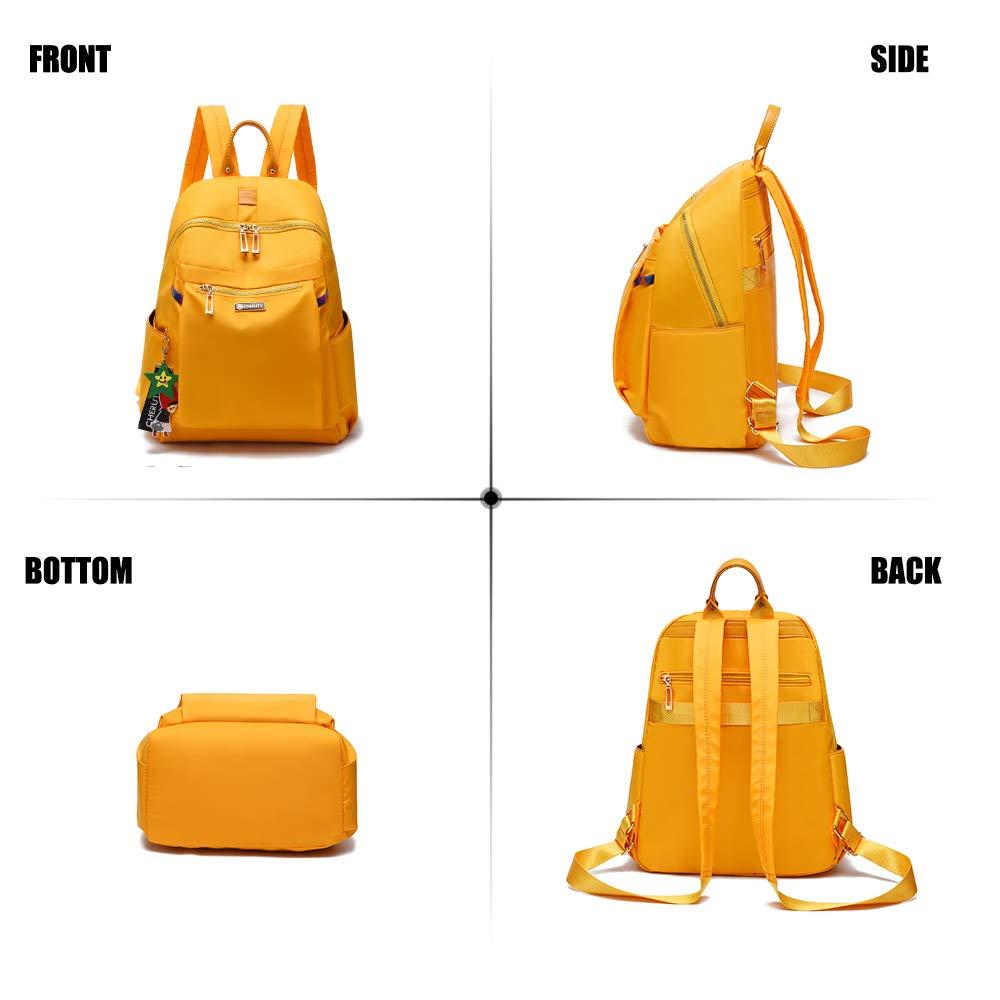 Women Backpack Purse Nylon Lightweight Waterproof Casual Travel Ladies Satchel Shoulder Bag