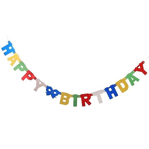 1 Pc Pancarta de Cumpleaños HAPPY BIRTHDAY 14 Tarjetas para ...
