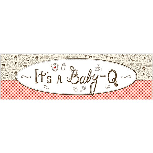 BirthdayExpress Baby Q Baby Shower Party Supplies - Vinyl Banner (18