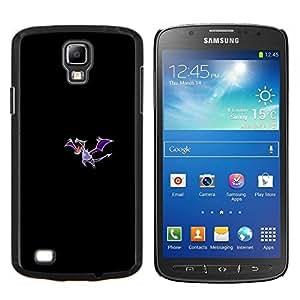 Meter Monstruo Morado Dragón- Metal de aluminio y de plástico duro Caja del teléfono - Negro - Samsung i9295 Galaxy S4 Active / i537 (NOT S4)