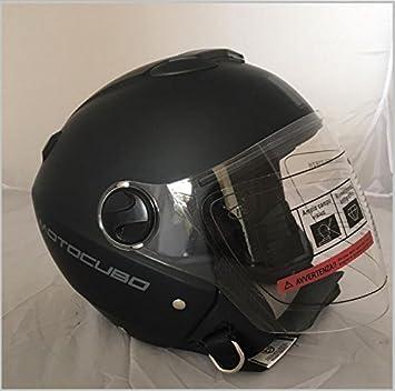Amazon.es: Casco para scooter tipo jet de color negro pulido ...