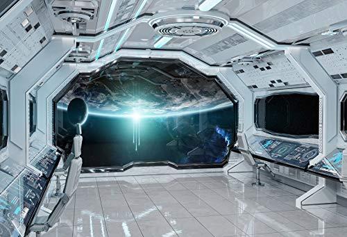 Yeele 10x6.5フィート 宇宙船 バックドロップ 宇宙船 宇宙ステーション インテリア 探検 将来の背景 写真 ユニバースプラネット 子供 男の子 女の子 ポートレート 写真ブース 撮影 ビニールスタジオ小道具   B07J4H5ZRY