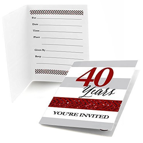 - We Still Do - 40th Wedding Anniversary - Fill In Anniversary Party Invitations (8 count)
