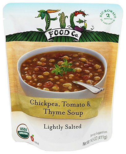 Organic Salted Tomatoes - Fig Food Organic Chickpea Tomato And Thyme Soup Lightly Salted, 14.5 Ounce
