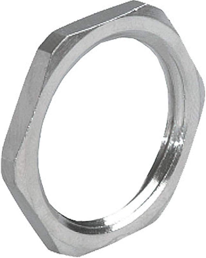 Locknut Nickel Plated Brass.PG 48 Pack of 5