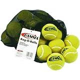 Gamma Bucket or Bag of Pressureless Tennis Balls - Sturdy & Reuseable Poly Bucket or Mesh Bag for Easy Transport - Bucket-O-Balls - Bag-O-Balls (18-pack or 48-pack of balls)