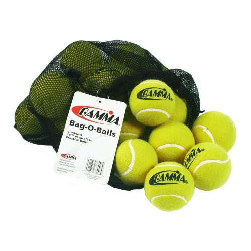 Gamma Sports Bag of Pressureless Tennis Balls Sturdy & Reuseable Mesh Bag for Easy Transport Bag O Balls (12 Pack or 18 Pack of Balls)