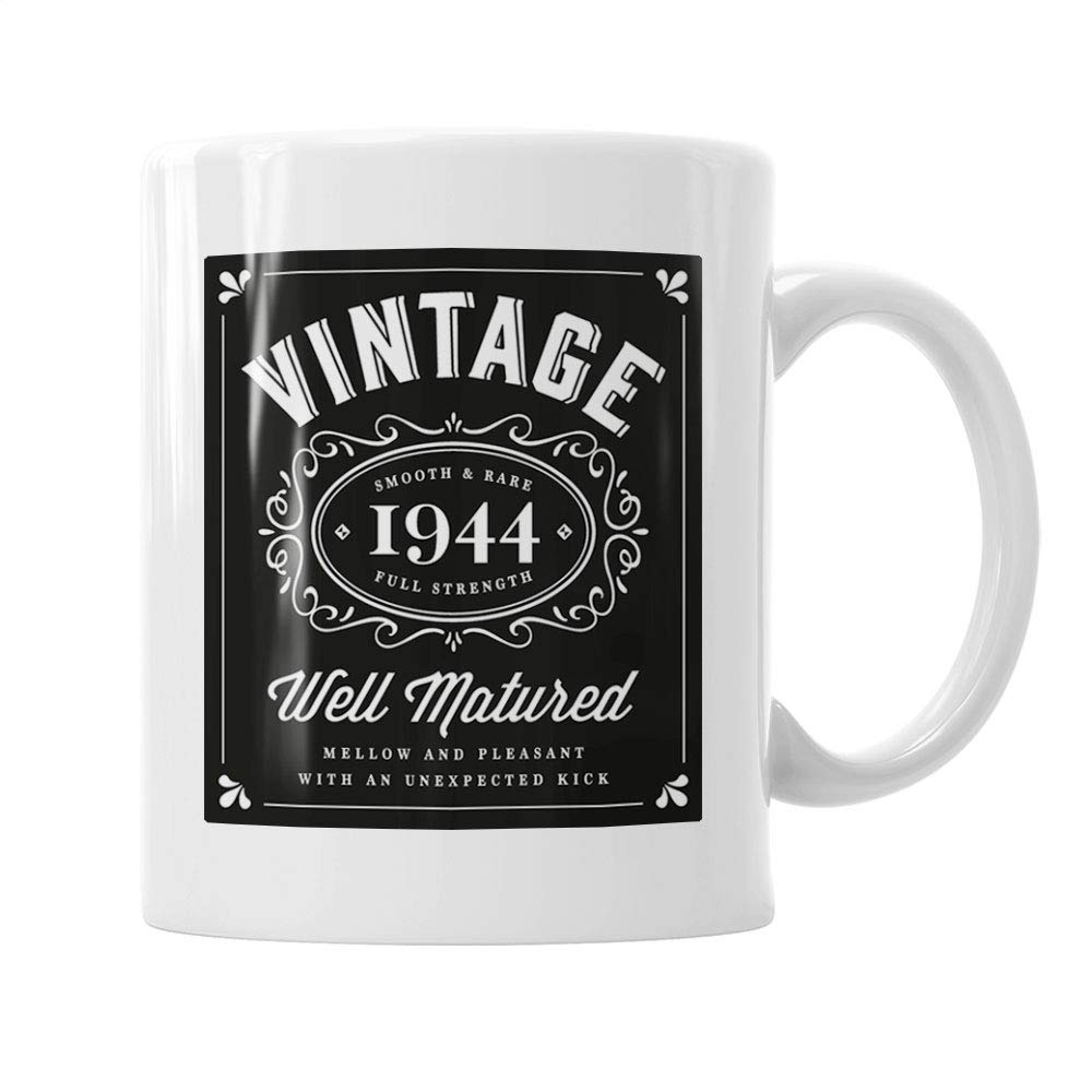 Amazon 75th Birthday Gift Gifts For Men Women Vintage Bourbon 1944 Coffee Mug Handmade
