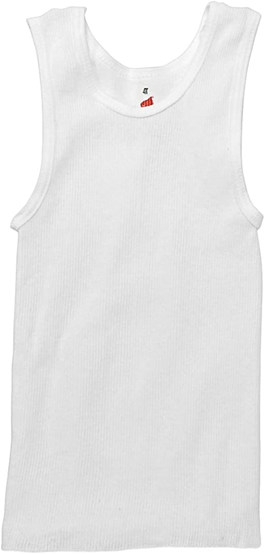 10 Hanes Toddler Boys White Tank Top Cotton Undershirts T-Shirts 2T//3T or 4T