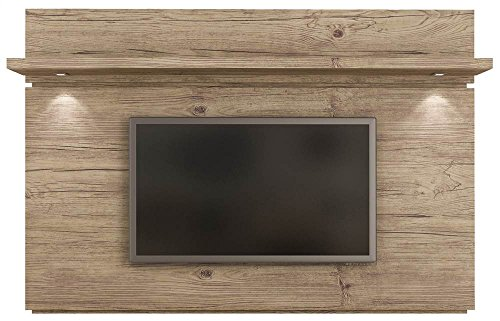 - Manhattan Comfort Park 1.8 Collection Floating Wall Entertainment Center TV Panel with LED Lights, 71