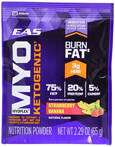 Eas Protein Calories (EAS Myoplex Ketogenic Powder Packets, Strawberry Banana, 14)