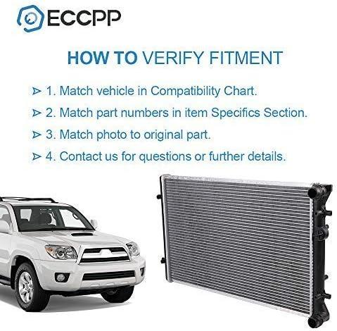 ECCPP Radiator CU2265 Replacement fit for A3//TT Quattro Clasico//Golf//Jetta VW3010103,2265